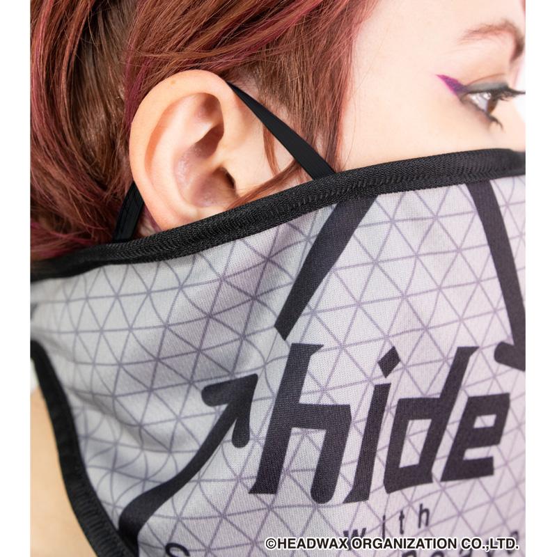 フェイスマスク(hide with Spread Beaver ロゴ グレーver.)