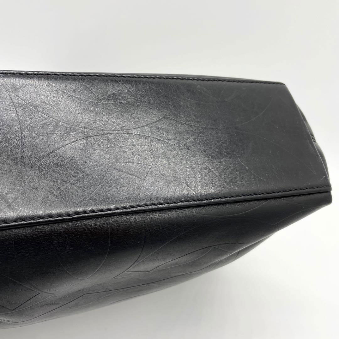 CHANEL シャネル トートバッグ ココマーク 型押しレザー ブラック 6番台