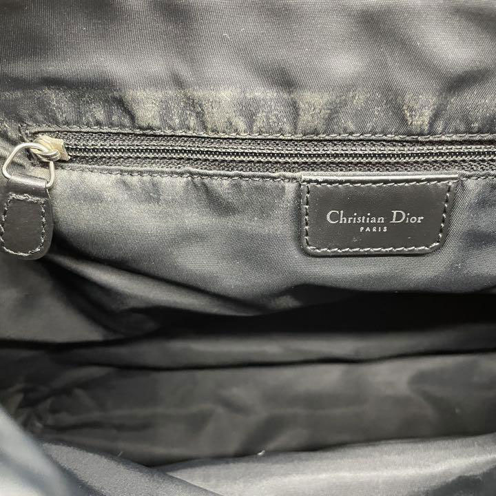 Christian Dior クリスチャンディオール トロッター ショルダーバッグ キャンバス ブラック グレー