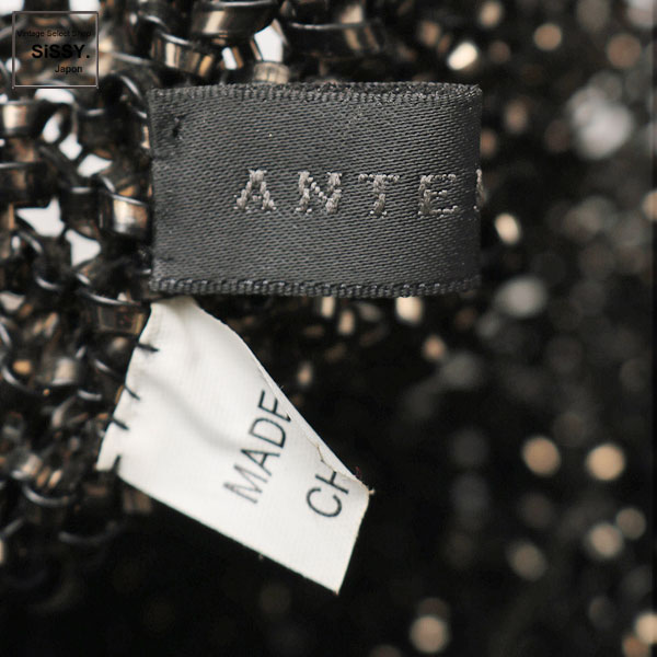 ■アンテプリマ■ ワイヤーバッグ ハンドバッグ PVC ガンメタリック ビジュー 【ANTEPRIMA】