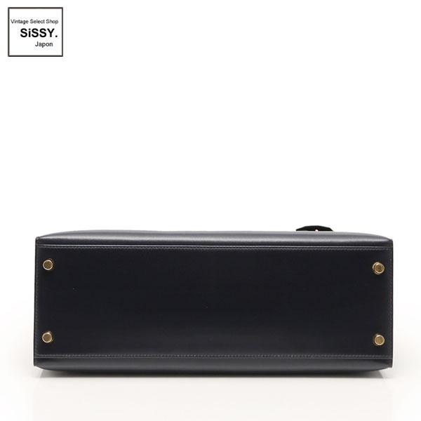 ■エルメス■ ケリー32 ハンドバッグ 2WAY ボックスカーフ ダークネイビー □C刻印 外縫い 【HERMES】