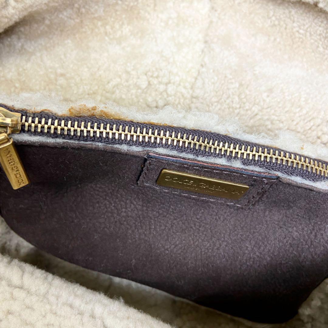 Dolce&Gabbana ドルチェ&ガッバーナ ショルダーバッグ ムートン ブラウン