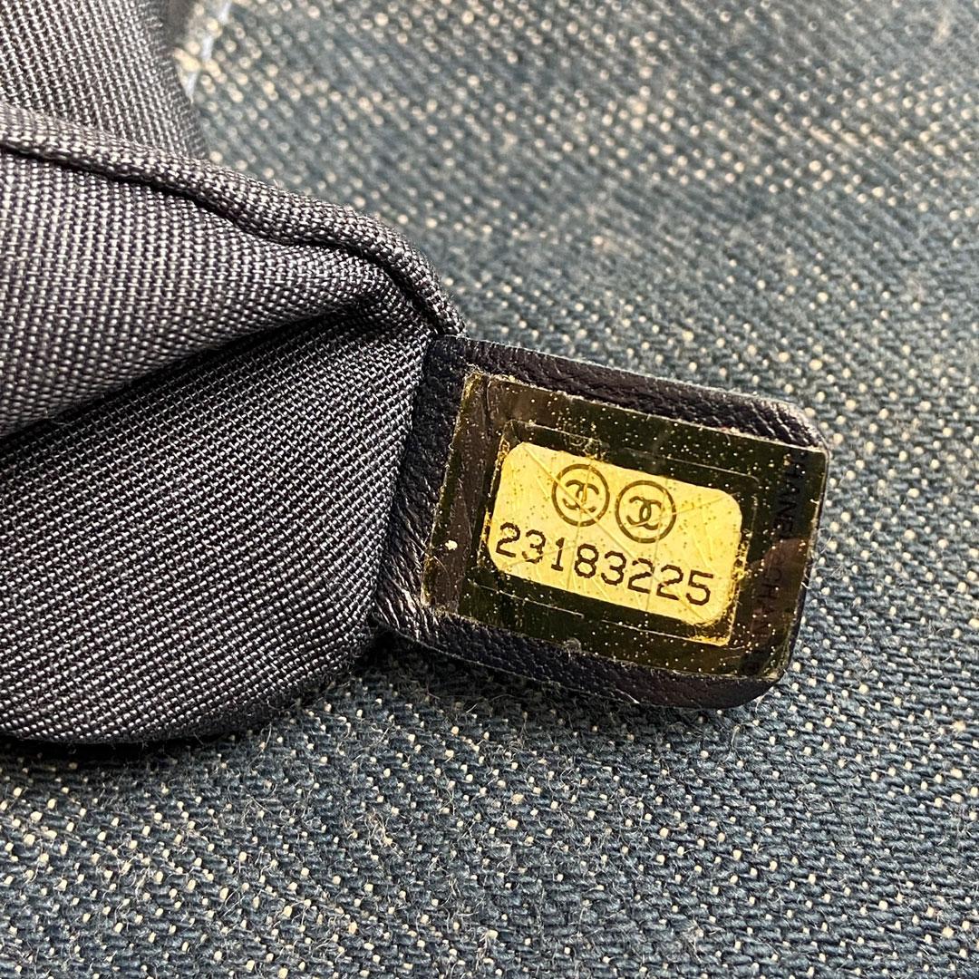 CHANEL シャネル マトラッセ バックパック リュックサック デニム ブルー ゴールド A91121