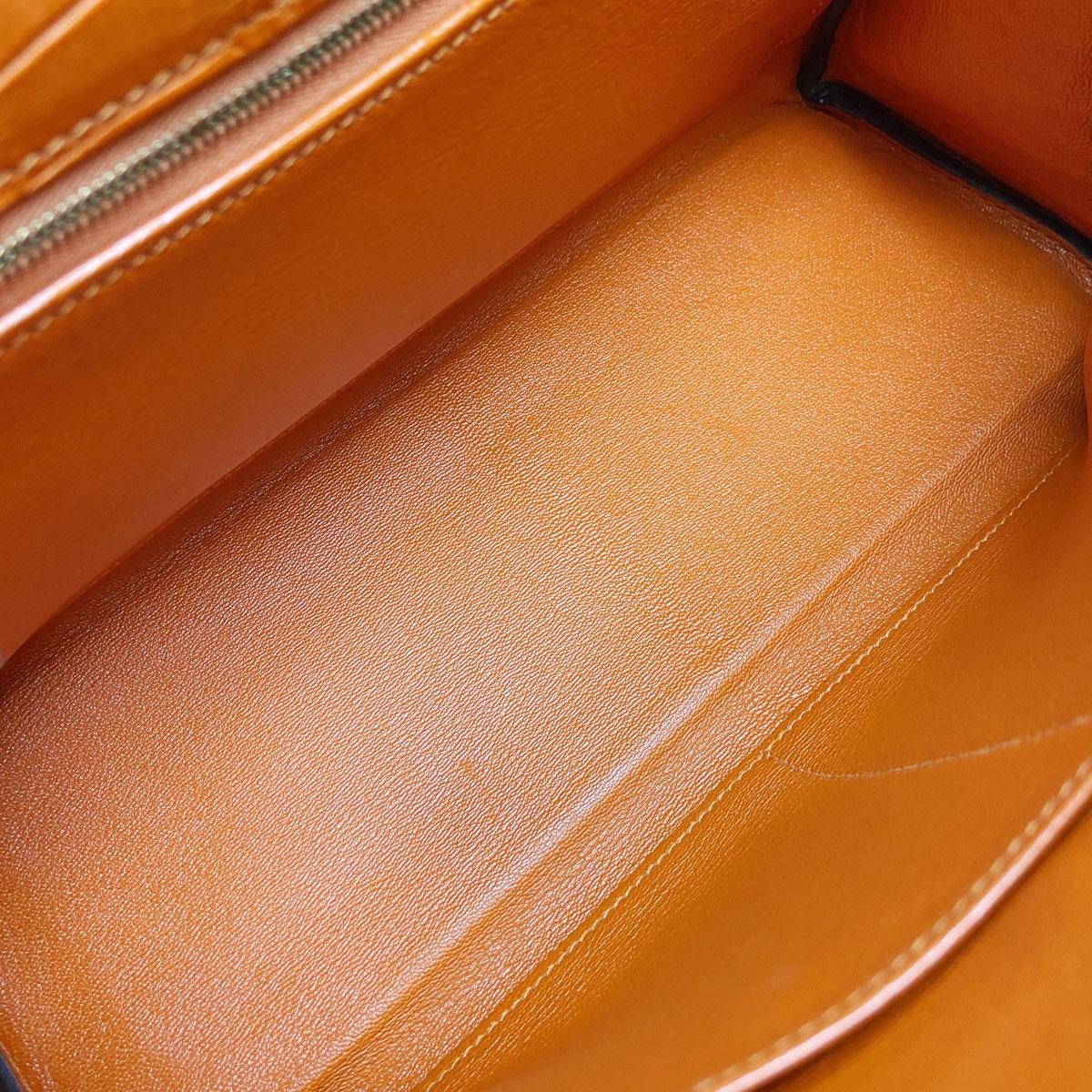 HERMES エルメス ケリー32 2WAYハンドバッグ クロコダイル オレンジ ゴールド金具 □R刻印 (2014年頃製造)