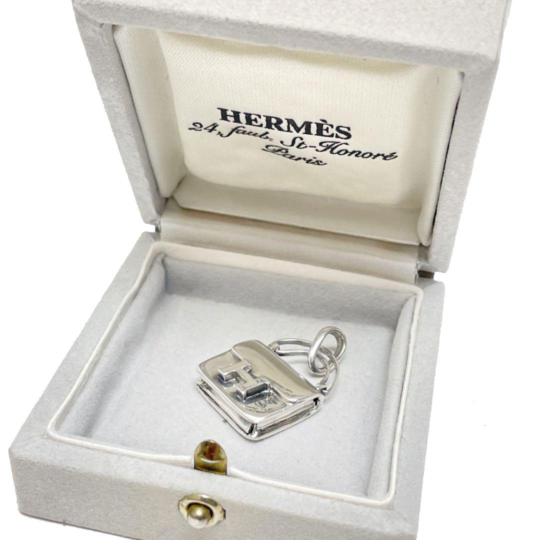 HERMES エルメス コンスタンス バッグモチーフ ペンダントトップ チャーム SV925 シルバー
