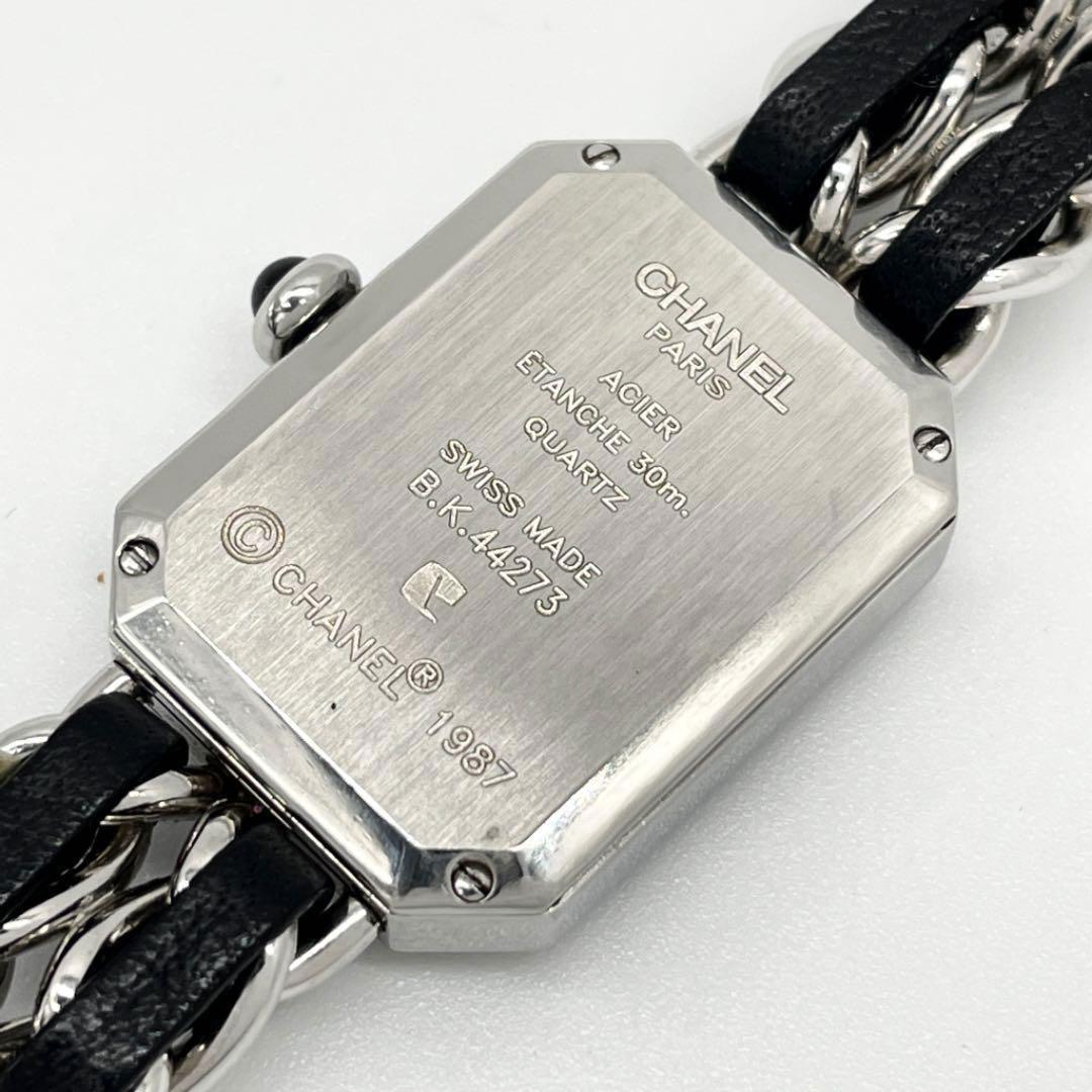 CHANEL シャネル レディース腕時計 プルミエール Mサイズ QZ SS シルバー ブラック
