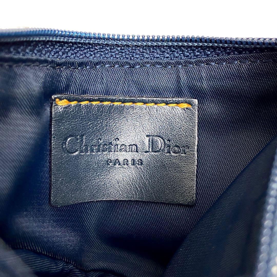 Christian Dior クリスチャンディオール サドル 小銭入れ コインケース ポーチ トロッター キャンバス ネイビー
