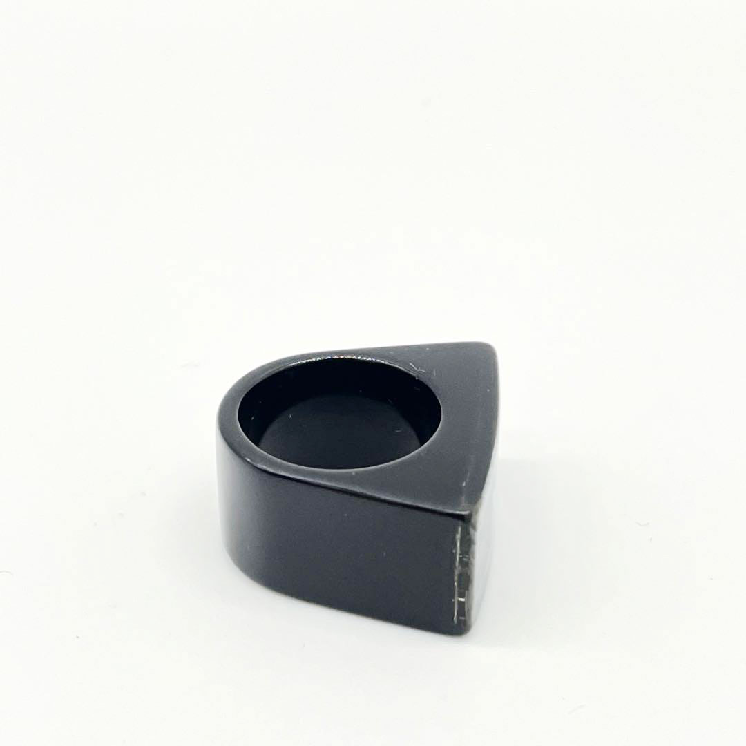 CHANEL シャネル シェルリング 指輪 ココマーク プラスチック ブラック 約12号 12P