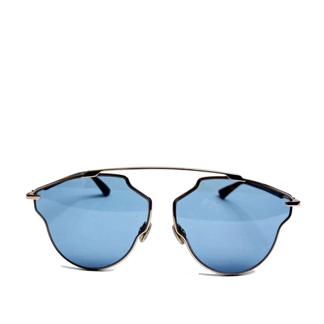 Christian Dior クリスチャンディオール サングラス アビエータ SO REAL POP DDBKU ブルー ピンクゴールド