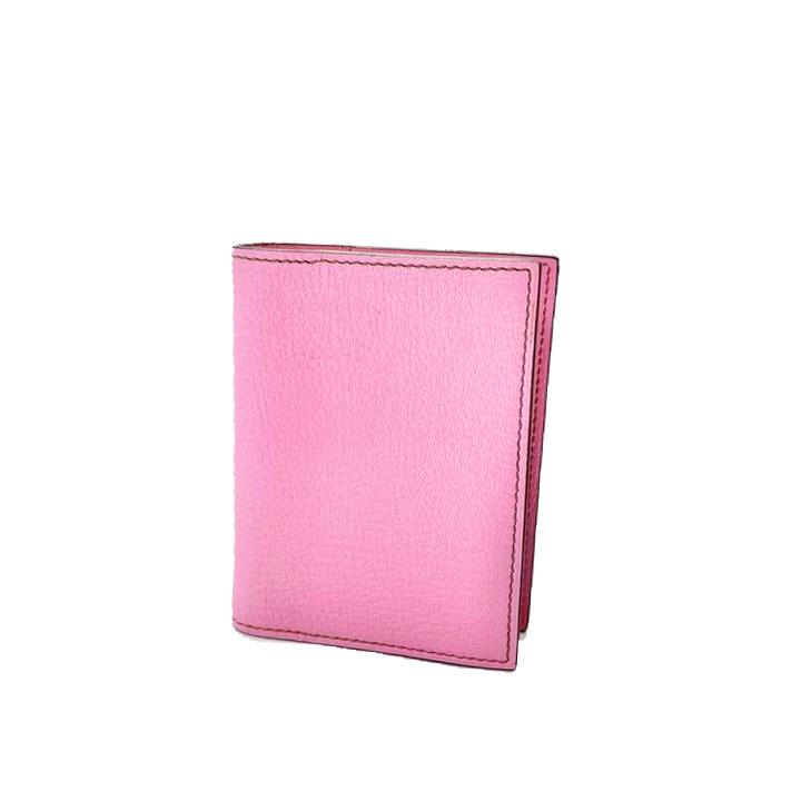 HERMES エルメス ミニアジェンダ 手帳カバー シェーブル ローズコンフェッティ □M刻印(2009年頃製造)