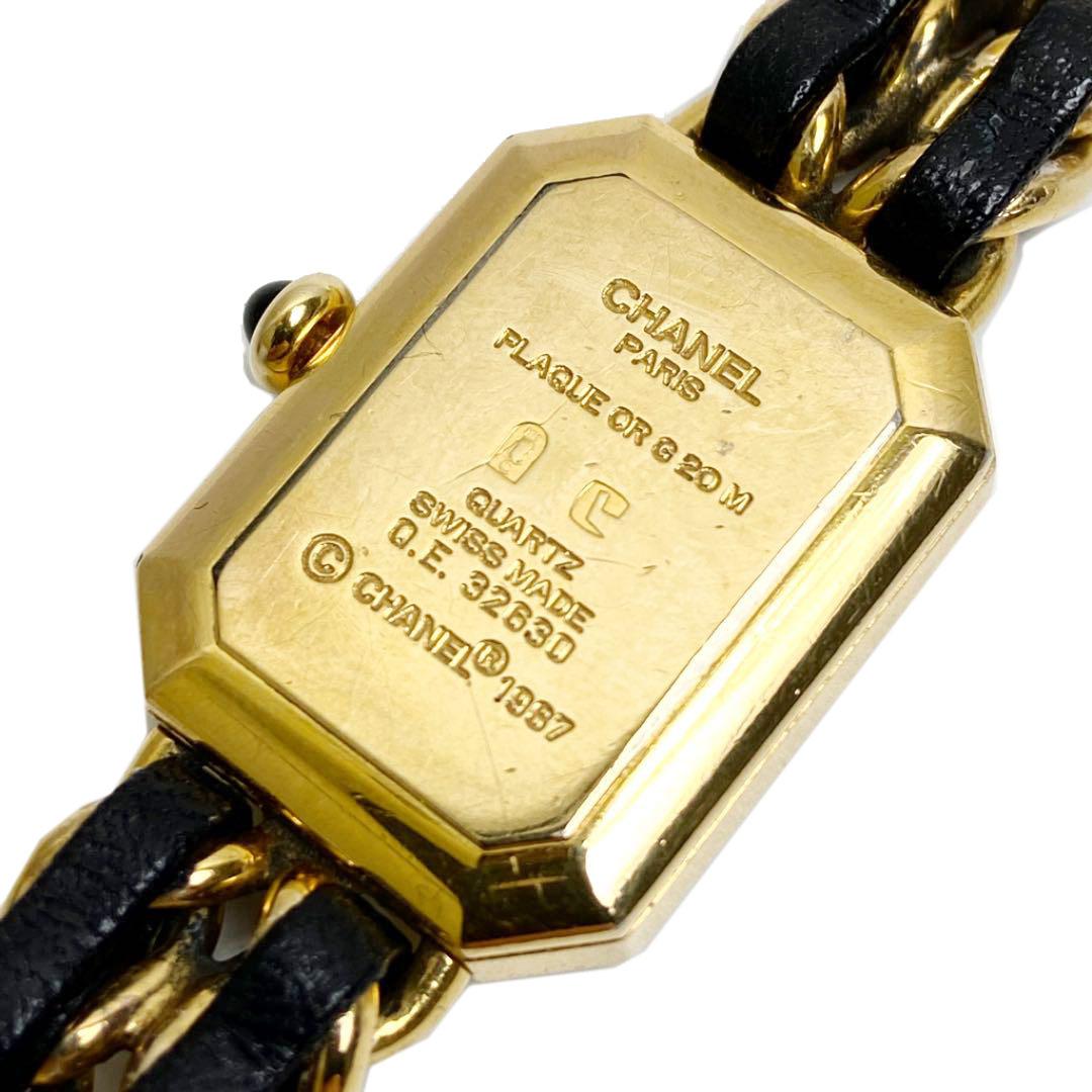 CHANEL シャネル プルミエール レディースウォッチ 腕時計 クォーツ Lサイズ ゴールド金具