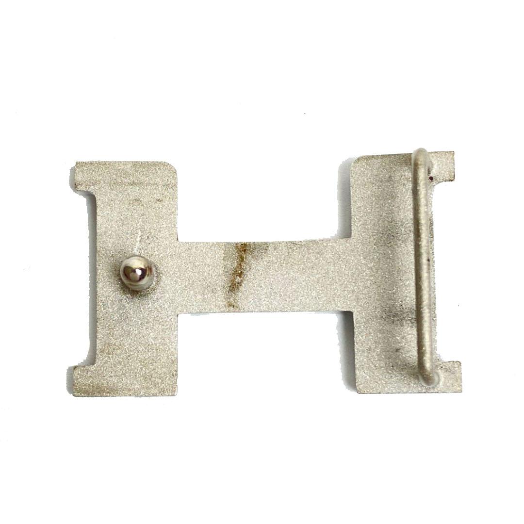 HERMES エルメス コンスタンス Hベルト 75 ブラック ブルージーン シルバー金具 □H刻印(2004年頃製造)