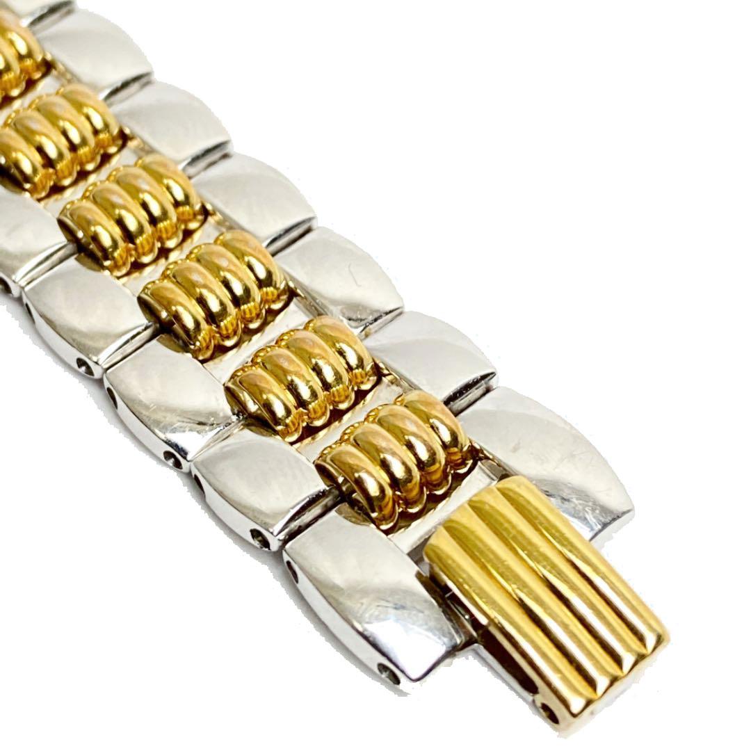 Christian Dior クリスチャンディオール レディース腕時計 オクタゴン QZ シルバー/ゴールド 48.203