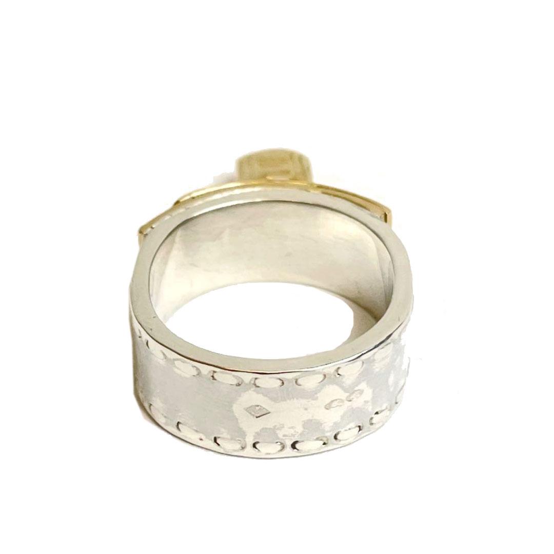 HERMES エルメス ケリーリング 指輪 SV925 K18 51 シルバー ゴールド 約9.5号
