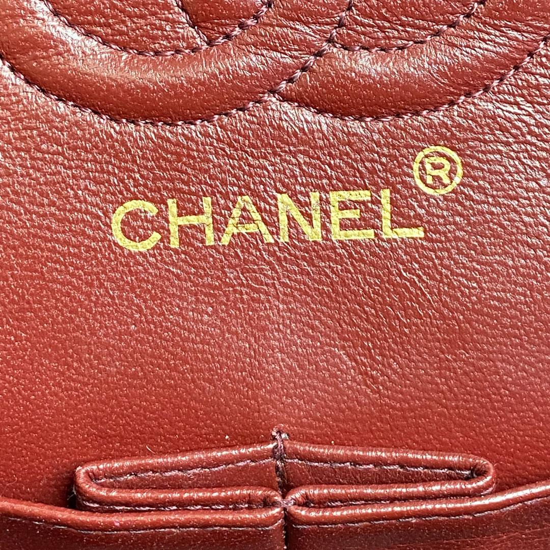 CHANEL シャネル マトラッセ チェーンショルダーバッグ ダブルフラップ ラムレザー ブラック ゴールド金具 0番台