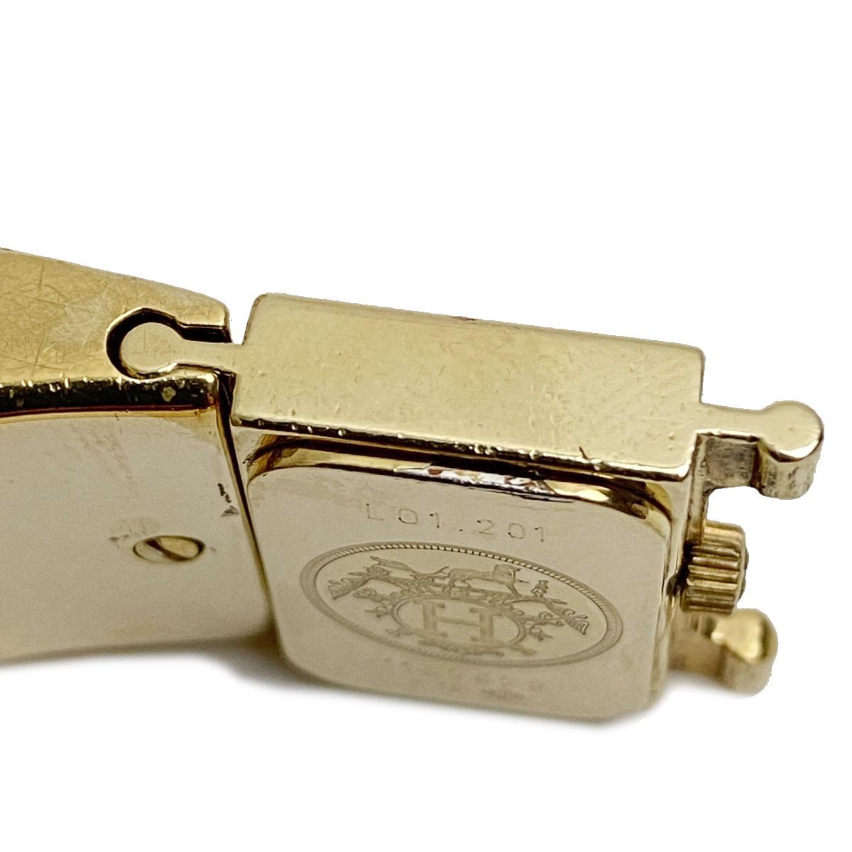 HERMES エルメス ロケ レディース腕時計 バングルウォッチ ウッド クォーツ LO1.201.470/2WA