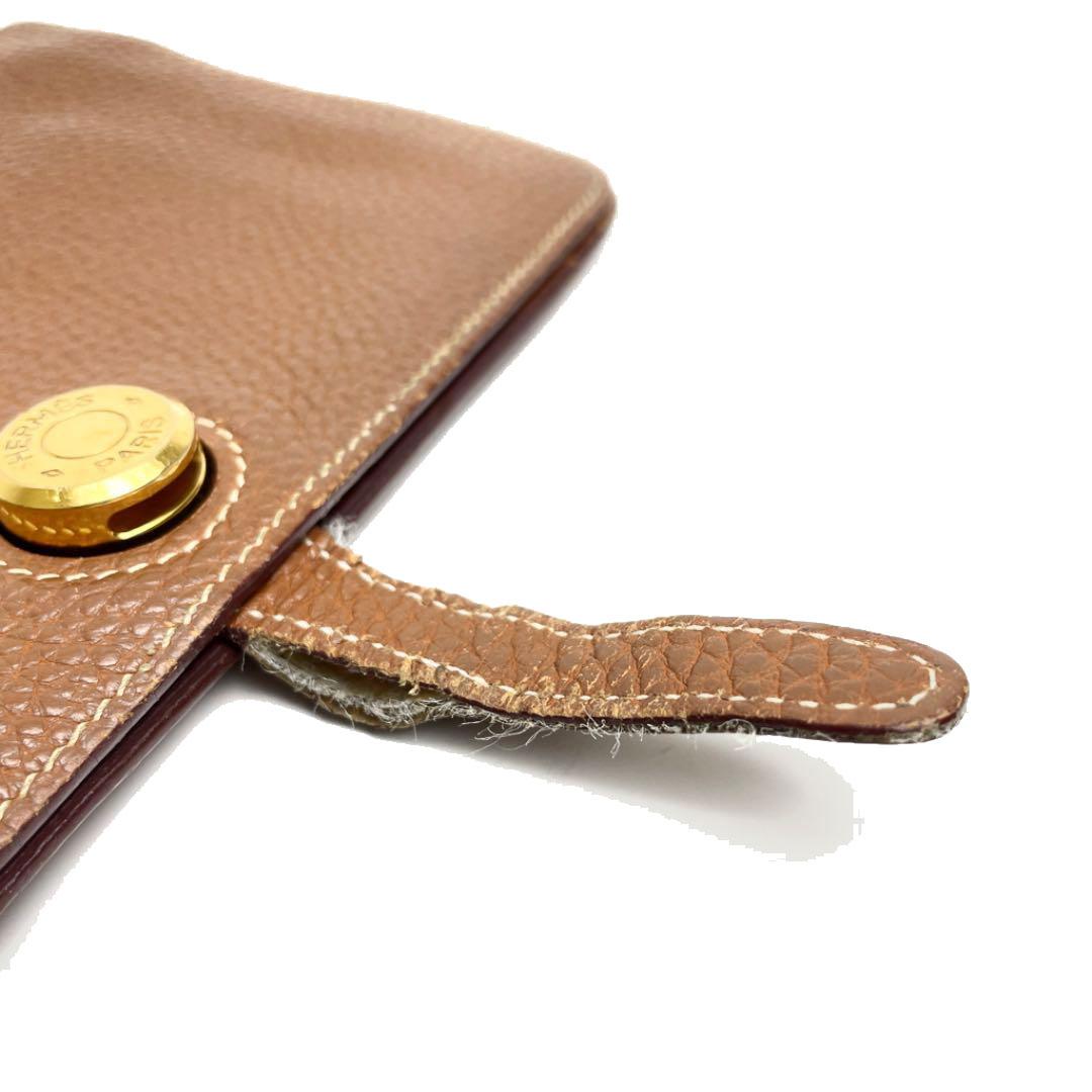 HERMES エルメス ドゴンGM 二つ折り長財布 トゴ ゴールド ゴールド金具 □M刻印(2009年頃製造)