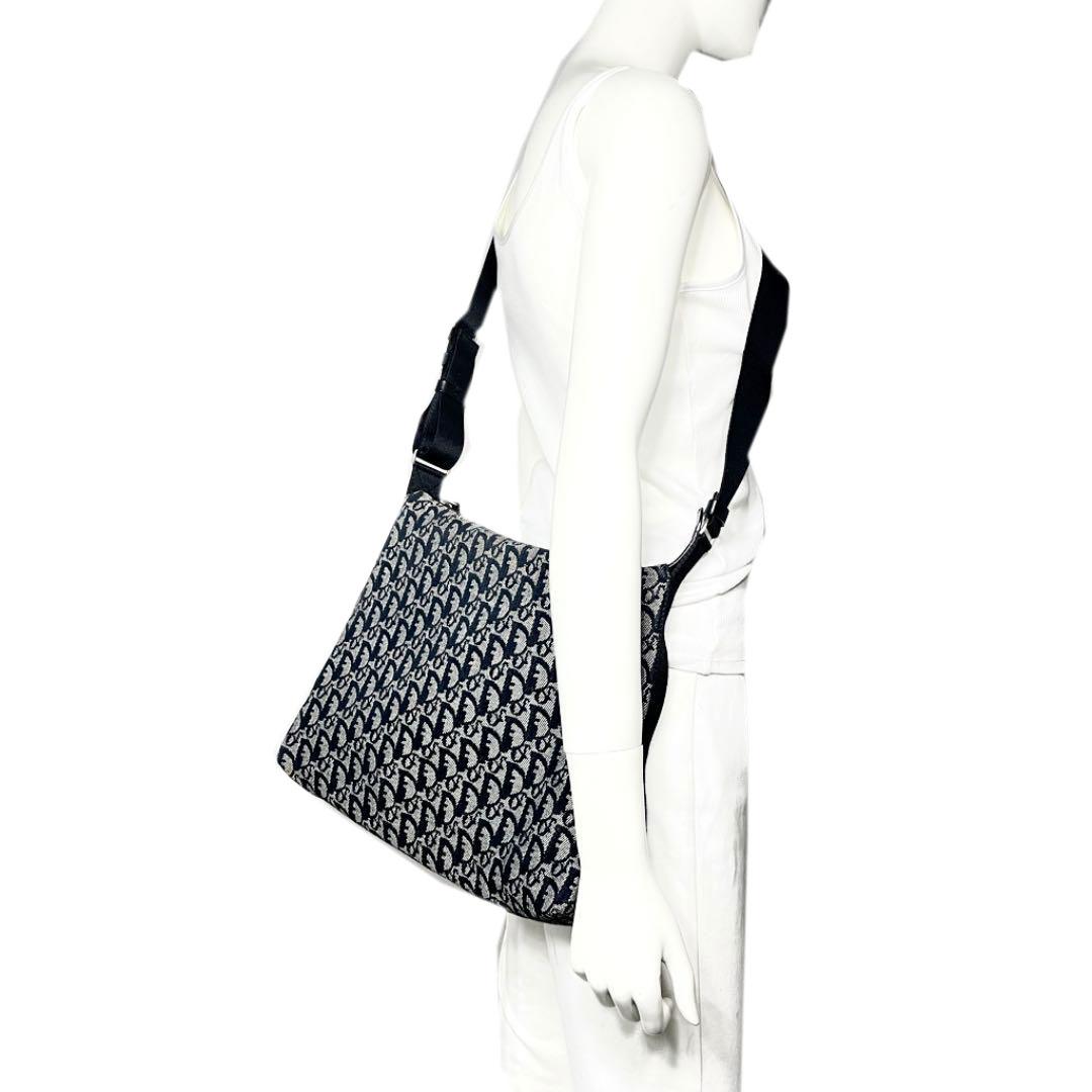 Christian Dior クリスチャン ディオール トロッター ショルダーバッグ キャンバス ブラック