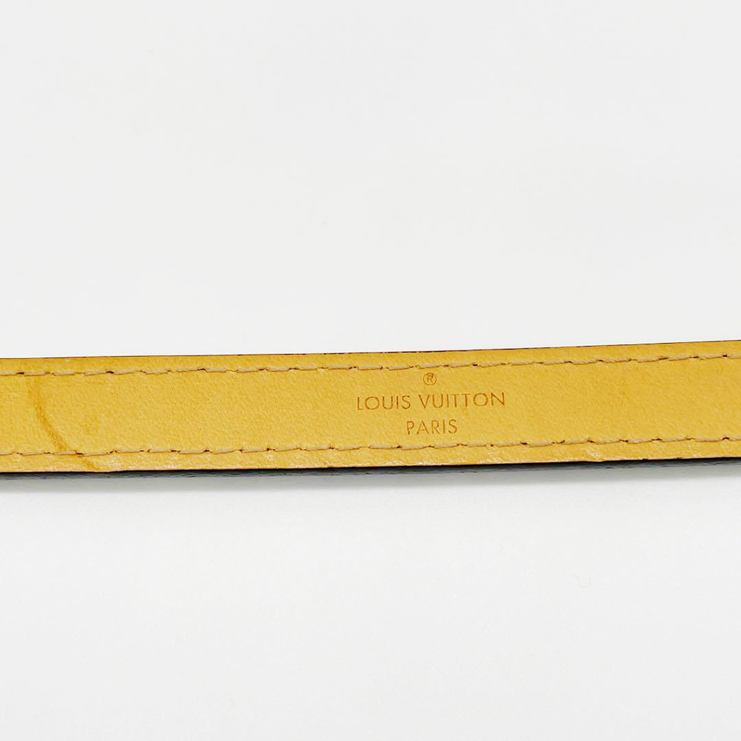 LOUIS VUITTON ルイヴィトン レディース ベルト ヴェルニレザー 80 チャーム ブラック ゴールド金具 CA1027