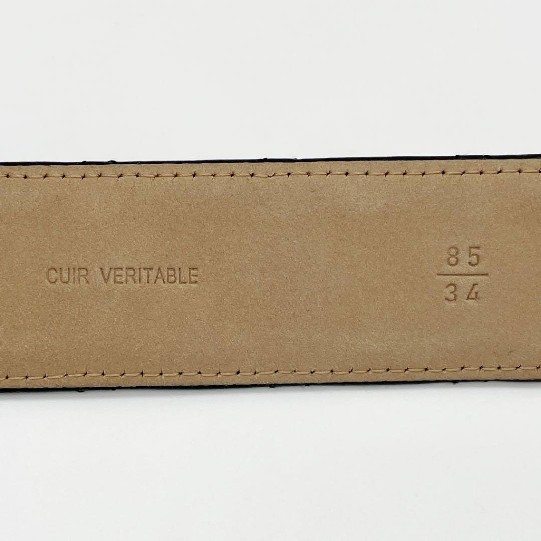 CHANEL シャネル レディース ベルト 85 マトラッセ ココマークバックル ゴールド ブラック B13S