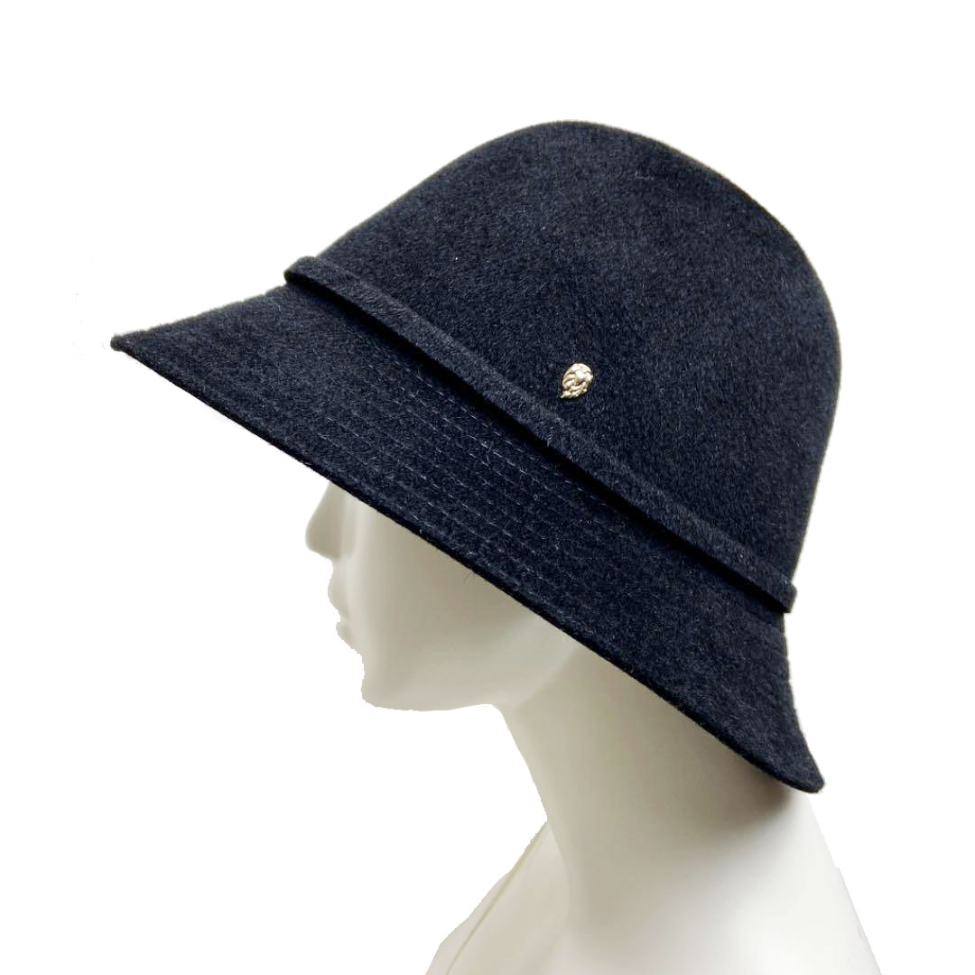 HELEN KAMINSKI ヘレンカミンスキー フェルトハット 帽子 ラビットウール ブラック L