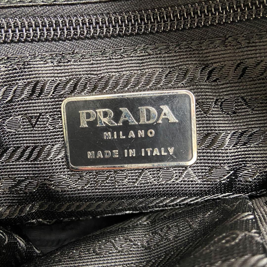 PRADA プラダ スポーツ ショルダーバッグ キャンバス レザー グレー
