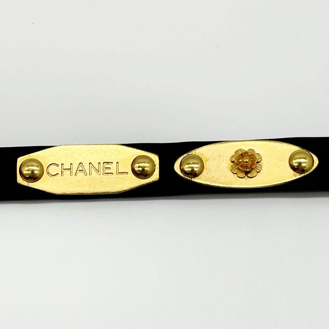 CHANEL シャネル レディース ベルト 70 アイコンプレート マトラッセバッグ クローバー 香水 亀 カメリア ブラック ゴールド 95A