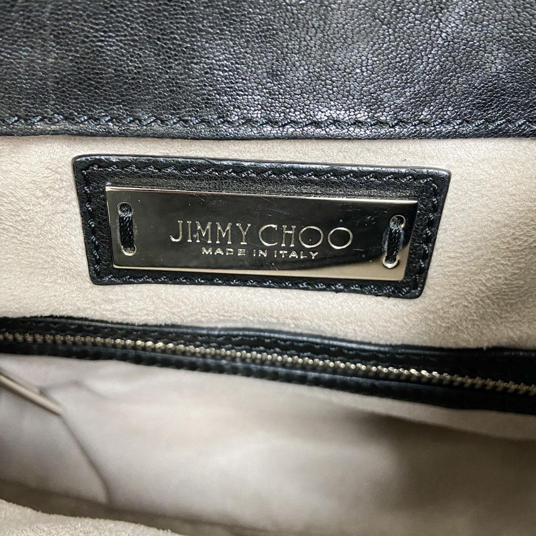 JIMMY CHOO ジミーチュウ 2WAY バックパック リュックサック レザー スター スタッズ ブラック シルバー金具