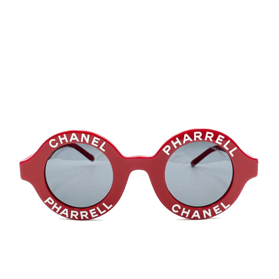 CHANEL シャネル ファレルウィリアムス サングラス ラウンドフレーム ティントレンズ レッド 71314A 限定品