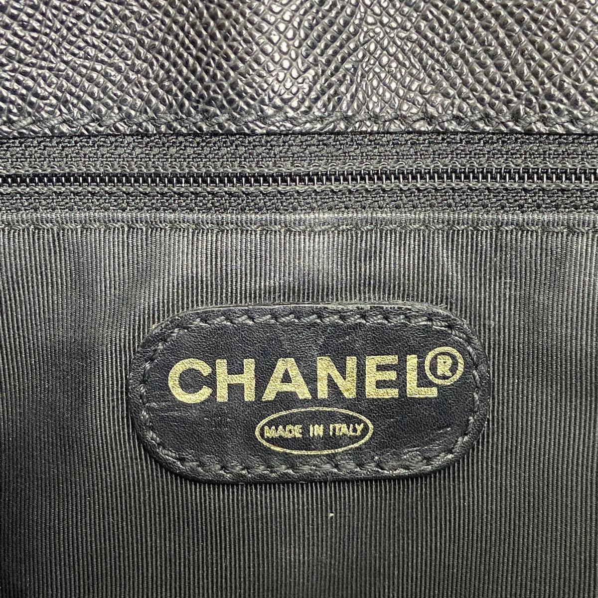 CHANEL シャネル トートバッグ キャビアスキン ブラック 5番台(1998年頃製造)