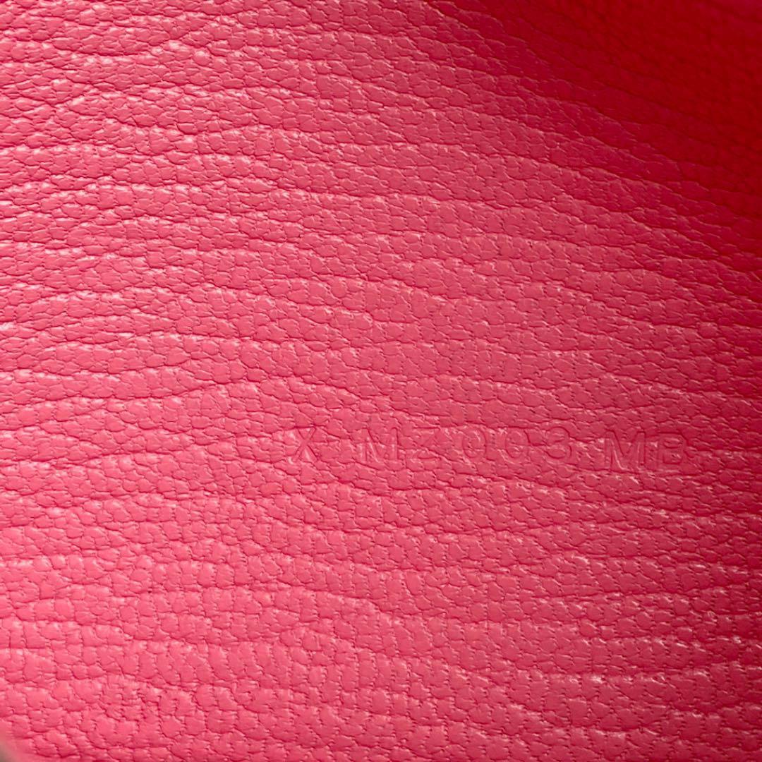 HERMES エルメス ベアンミニ 二つ折り財布 シェーブル ピンク系 シルバー金具  X刻印(2016年頃製造)