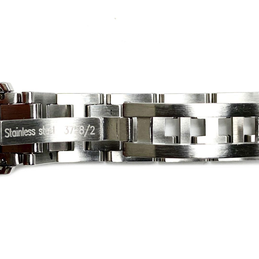 HERMES エルメス クリッパー レディース腕時計 QZ シルバー ブラック文字盤 CL4.210