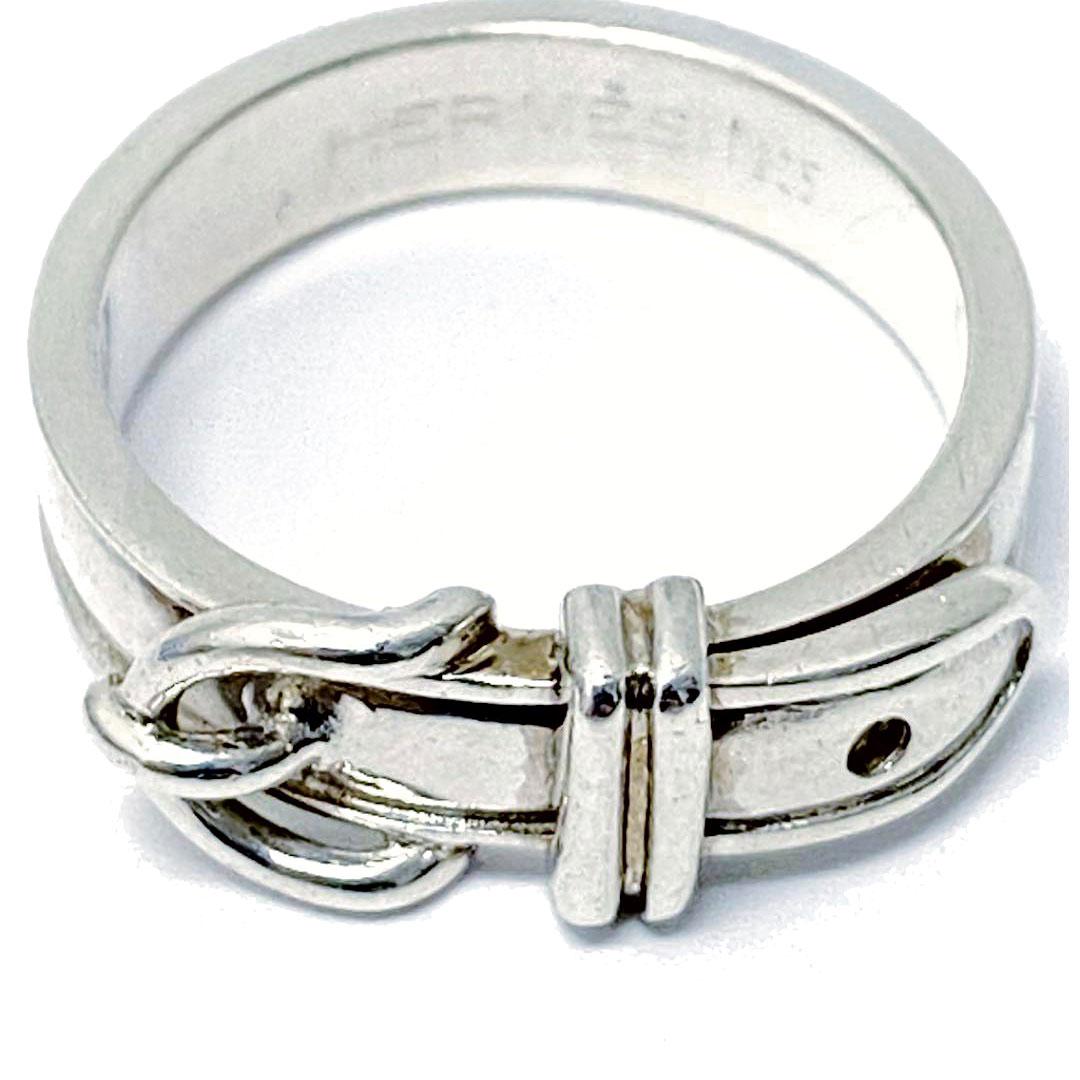 HERMES エルメス リング 指輪 サンチュール ベルト SV925 シルバー 約13.5号