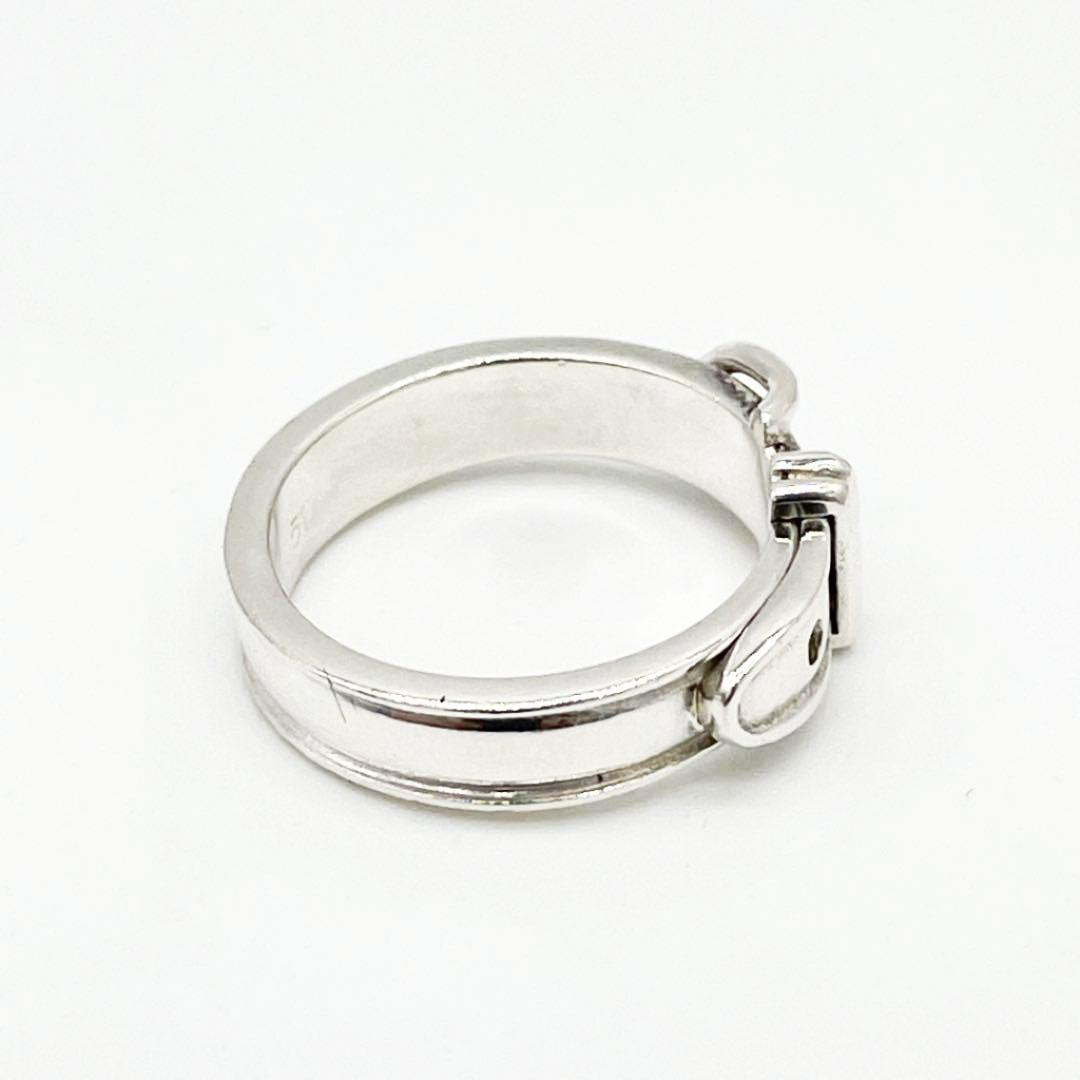 HERMES エルメス リング 指輪 サンチュール #51(約10号) SV925 シルバー