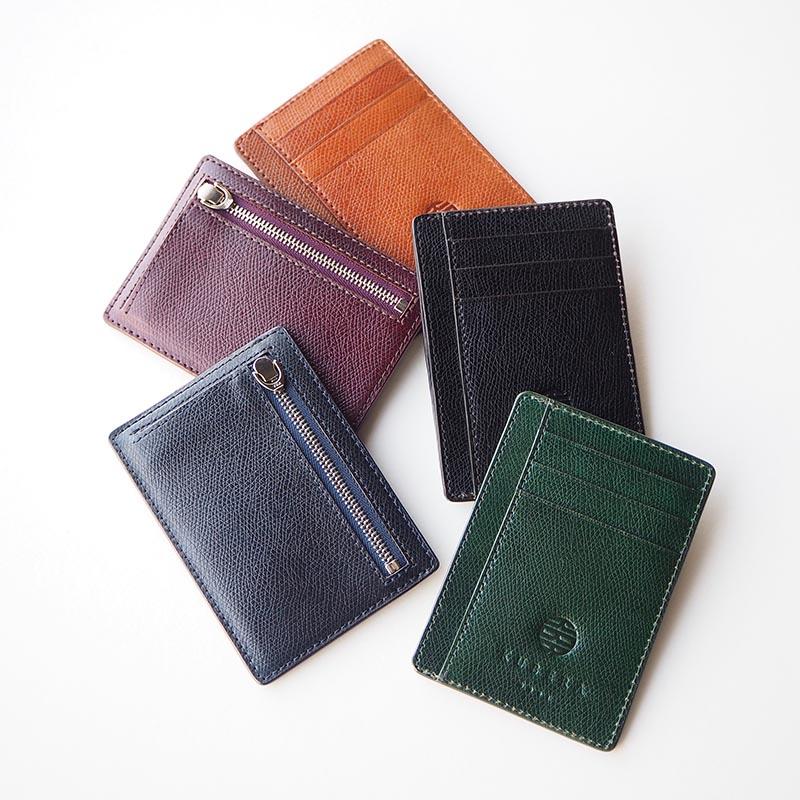 MINI CARD CASE  CORDOVAN (redel ogawa) ミニカードケース 型押しコードバン(レーデルオガワ)