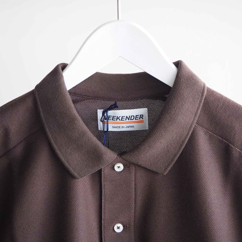 WEEKENDER by melple ウィークエンダー バイ メイプル honeycotech Polo Shirts ポロシャツ ブラウン