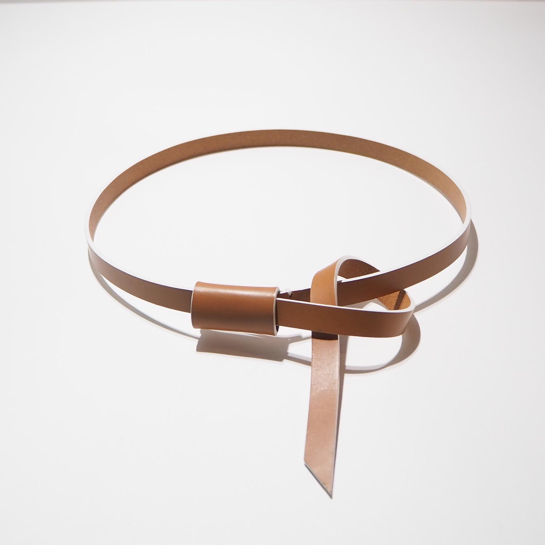 _Fot フォート knot belt ノットベルト tan ライトブラウン