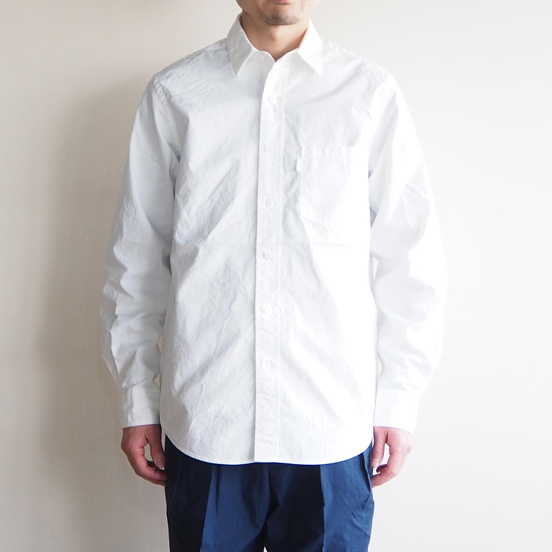 SH エスエイチ REGULLAR COLLAR SHIRT レギュラーカラーシャツ WHITE ホワイト