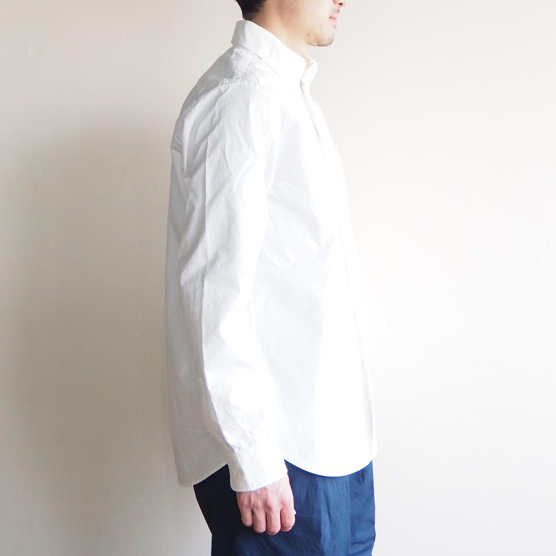 SH エスエイチ BUTTON DOWN SHIRT ボタンダウンシャツ WHITE ホワイト