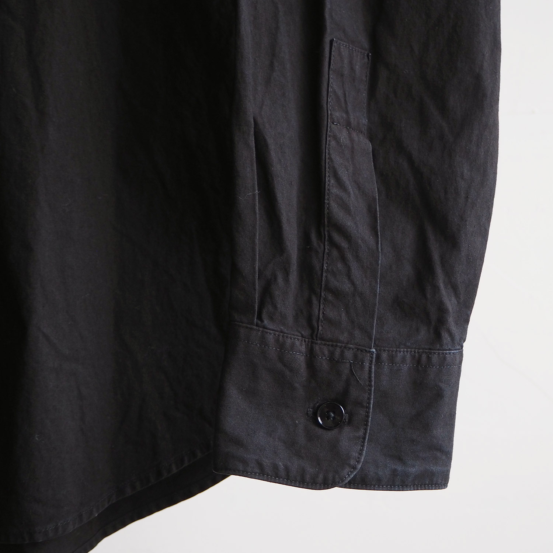 SH エスエイチ REGULAR COLLAR SHIRT (GARMENT DYE) レギュラーカラーシャツ 藍泥染め