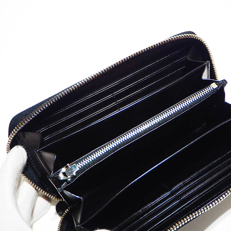 KUBERA9981 クベラ9981 ROUND WALLET ラウンドウォレット CORDOVAN 型押しコードバン ブラック