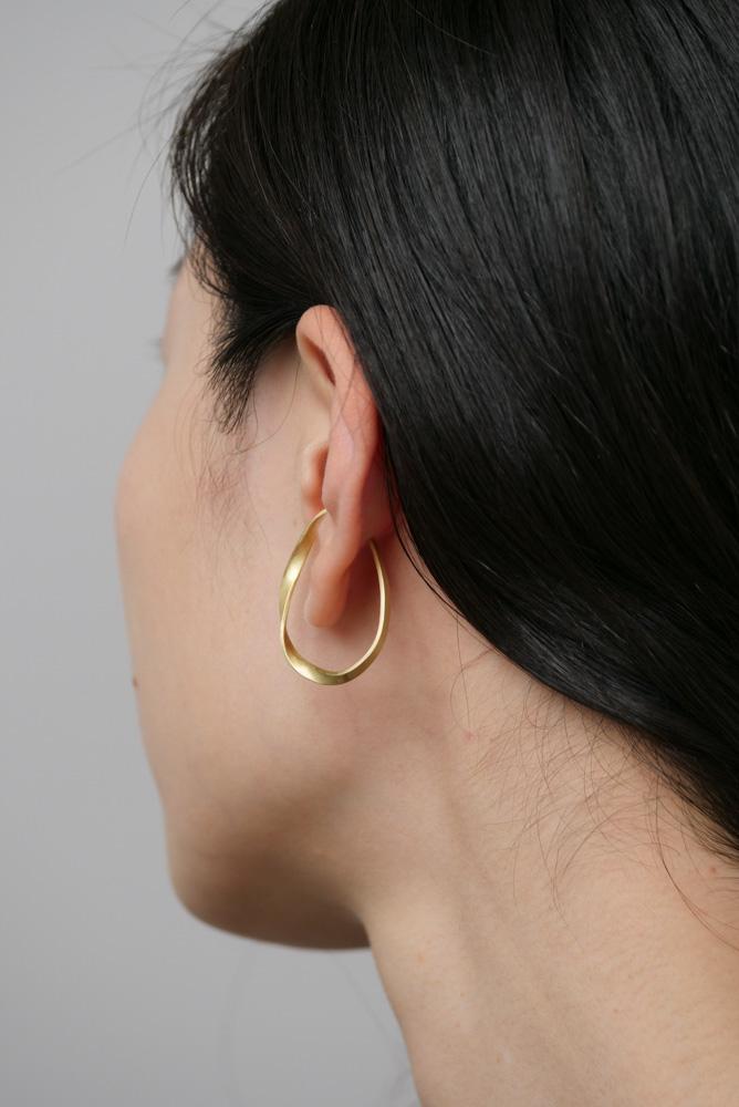 _Fot フォート plate earring L twist (ear cuff) ツイストプレートイヤーカフ brass