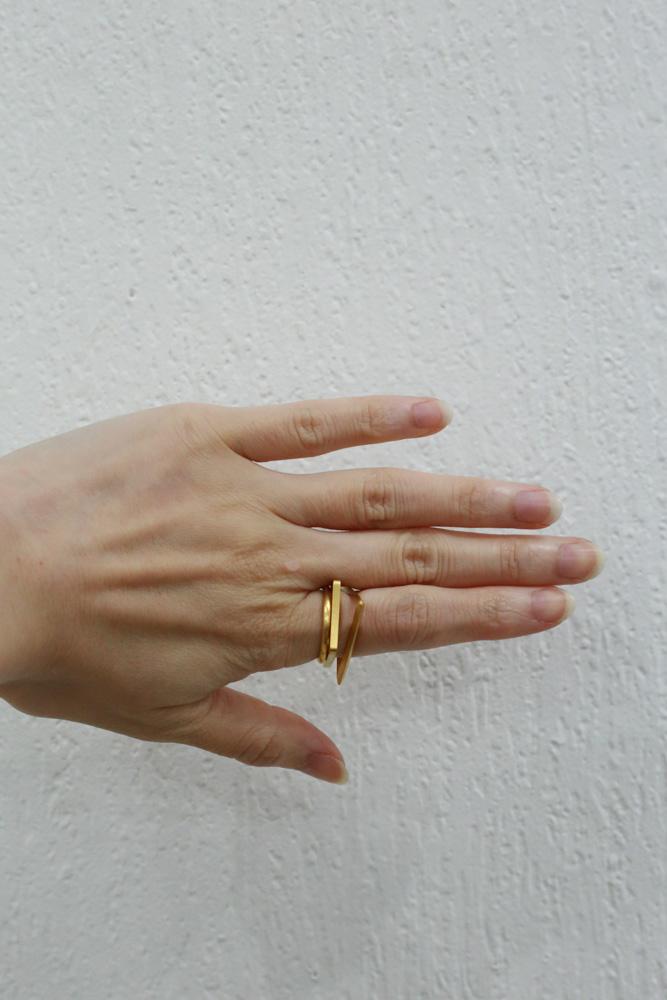 _Fot フォート line ring square gold (brass+18KGP) ラインリング スクエア ゴールド