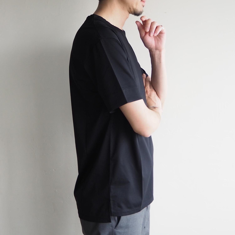 WEEKENDER by melple ウィークエンダー バイ メイプル Crewneck Tee クルーネックTシャツ ブラック