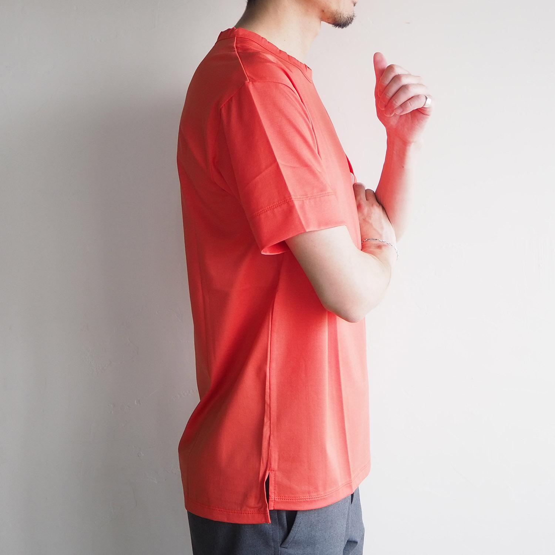 WEEKENDER by melple ウィークエンダー バイ メイプル Crewneck Tee クルーネックTシャツ オレンジ