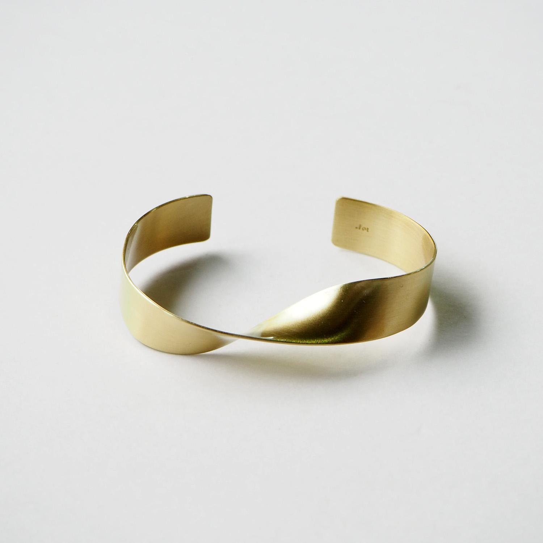 _Fot フォート plate bangle 12mm twist プレートバングル 12mm ツイスト brass