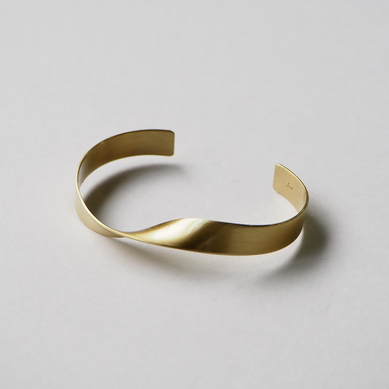 _Fot フォート plate bangle 8mm twist プレートバングル 8mm ツイスト brass