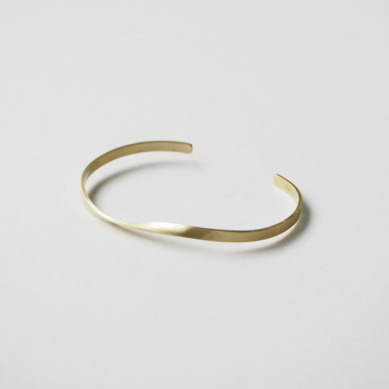 _Fot フォート plate bangle 3mm twist プレートバングル 3mm ツイスト brass