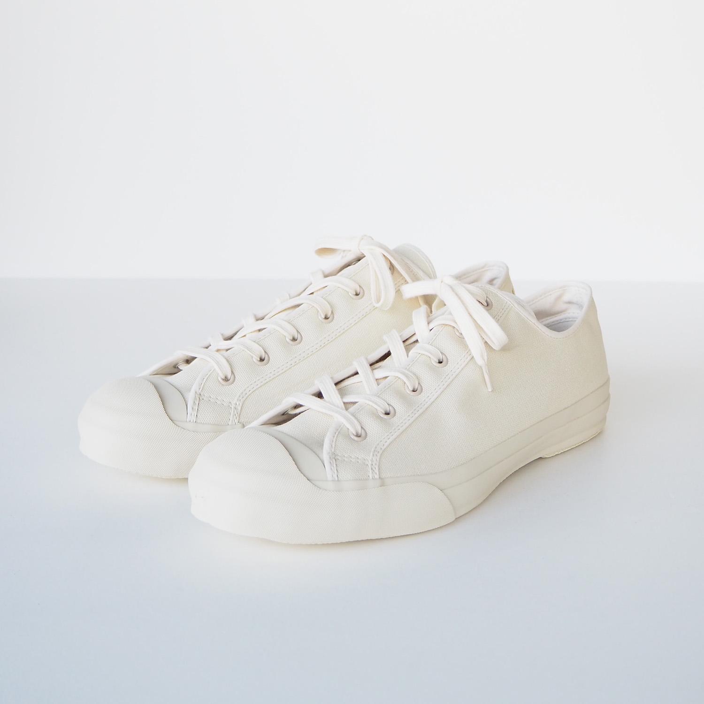 STUDIO NICHOLSON スタジオニコルソン MERINO / Vulcanized Sole Canvas Shoes (moonstar) CREAM クリーム