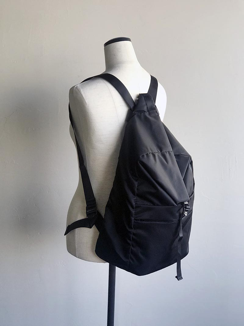 LEAF LINE spring backpack No.1 ナイロンリュック (small) ブラック